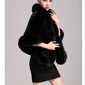 Women's Party Faux Fox Fur Long Shawl